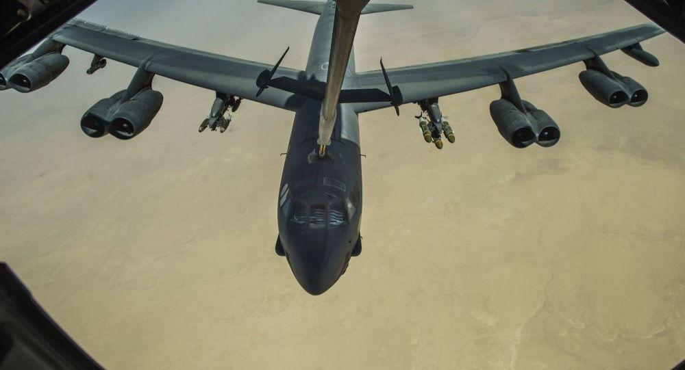 Американский стратегический бомбардировщик Boeing B-52H Stratofortress. Архивное фото