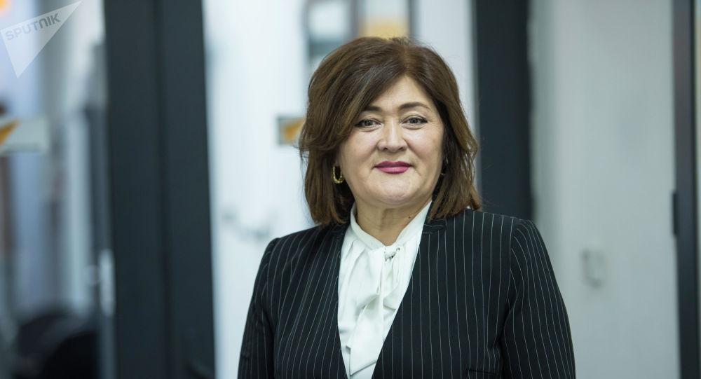 Бишкек шаардык кеңешинин төрагасынын орун басары Адиса Имангазиева. Архив