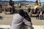 Колумнист Адилет Ногойбаев во время путешествия по Барселоне