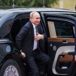 Прибытие Владимира Путина в госрезиденцию Ала-Арча