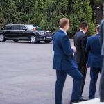 Владимир Путин передвигался в Кыргызстане на личном лимузине Aurus, привезенном из России