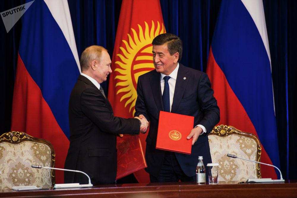Путин подчеркнул, что с удовольствием приедет в Бишкек на саммиты ШОС и ОДКБ, которые пройдут в столице Кыргызстана в июле и ноябре соответственно