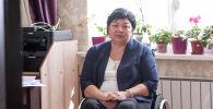 Руководитель общественного объединения Иссык-Кульской области Равенство Гульмира Казакунова во время беседы