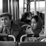 Белгилүү киноактёр Талгат Нигматулин менен актриса Таттыбүбү Турсунбаева Фрунзе (азыркы Бишкек) шаарында кинопроба маалында
