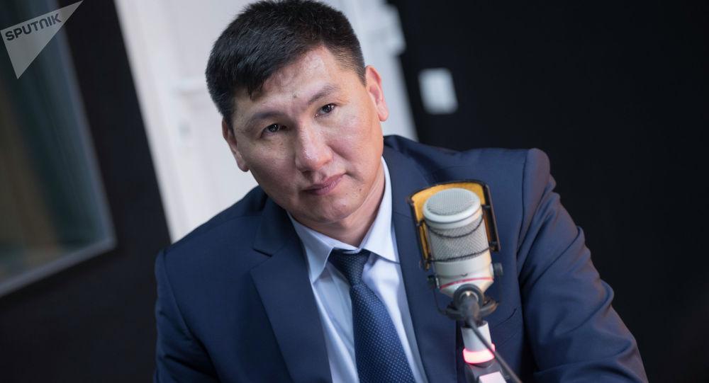 Эмгек жана социалдык өнүктүрүү министри Улукбек Кочкоров. Архивдик сүрөтү
