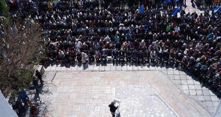 Социал-демократическая партия Кыргызстана провела у здания Форума митинг, посвященный памяти погибших героев Апрельской народной революции