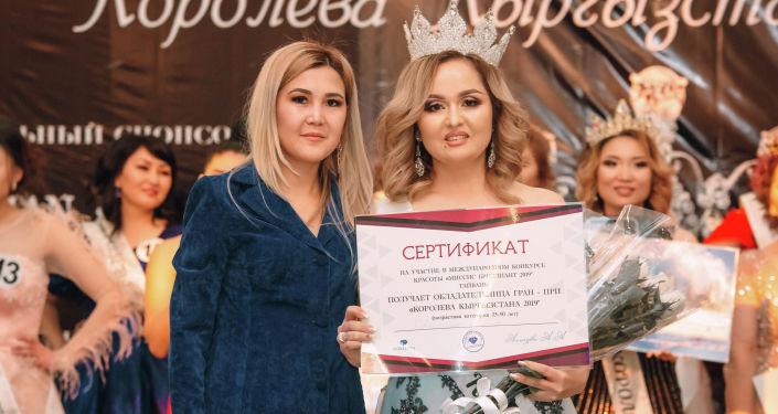 Победительница конкурса Королева Кыргызстана - 2019 в категории 35 - 50 лет Гулира Алымкулова