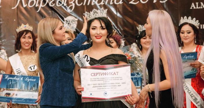 Победительница конкурса Королева Кыргызстана - 2019 в категории 20-35 лет Адина Калназарова