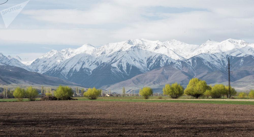 Незасеянное поле на окраине Бишкека. Архивное фото