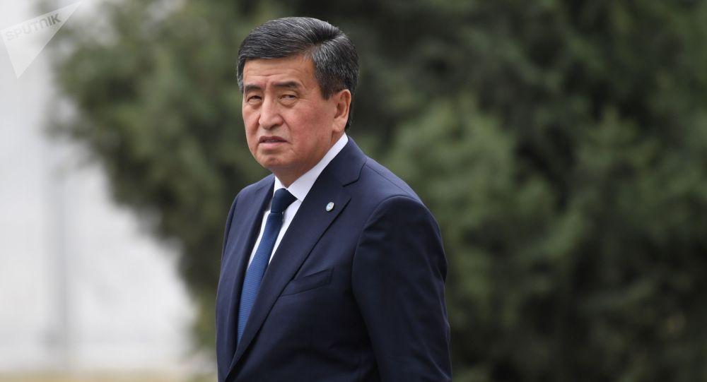 Президент Кыргызстана Сооронбай Жээнбеков. Архивное фото