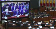 Жогорку Кеңеш Мухаммедкалый Абылгазиев башында турган өкмөттүн 2018-жылы жасаган ишин кароодо