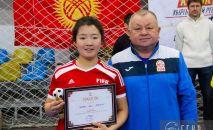 Футболистка сборной Кыргызстана U-19 Айжан Боронбеков. Архивное фото