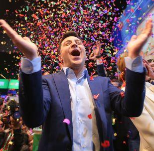 Кандидат в президенты от партии Слуга народа Владимир Зеленский. Архивное фото