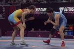 Кыргызстандык спортчу Азия чемпионатында коло байге үчүн күрөштө атаандашын таза жеңиш менен утуп алган.