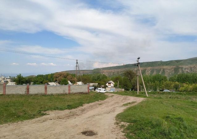 На территории госрезиденции Ала-Арча начался пожар