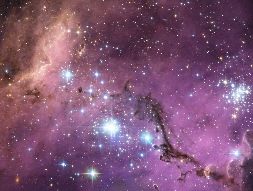 Так выглядит карликовая галактика Большое Магелланово Облако — одна из соседок нашего Млечного пути