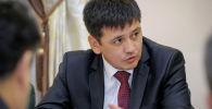 Мамлекеттик курулуштун башчысы Бактыбек Абдиев. Архивдик сүрөт