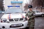 Начальник медицинского пункта Службы спасения старший прапорщик Махабат Назарбекова на службе