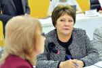 Заместитель омбудсмена Гульнара Жамгырчиева в пресс-центре Sputnik Кыргызстан в рамках круглого стола о поборах в школах и детсадах