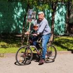 Акцияга бул кишидей велосипед менен да чыккандар болду