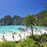 Таиланддагы Пхи-Пхи аралдарындагы Maya bay пляжы