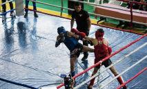 Тай бокс боюнча Кыргызстандын чемпионатынын катышуучулары. Архив