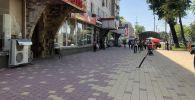 Чүй менен Манас проспектилеринин кесилишиндеги эс алуучу аянтча дээрлик даяр болуп калды