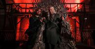 Поклонники сериала Игра престолов принимают участие в конкурсе косплея перед финальной премьерой сериала в Москве