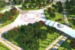 Эскизы нового парка на пересечении улиц Аалы Токомбаева (Южная магистраль) и Байтик Баатыра (бывшая советская) в Бишкеке