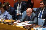 Постоянный представитель РФ при Организации Объединённых Наций (ООН) Василий Небензя выступает на заседании Совета безопасности ООН о ситуации в Сирии.
