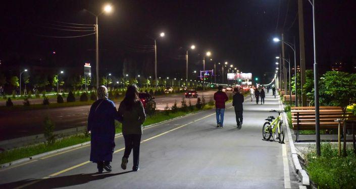 Работы по благоустройству города Бишкек
