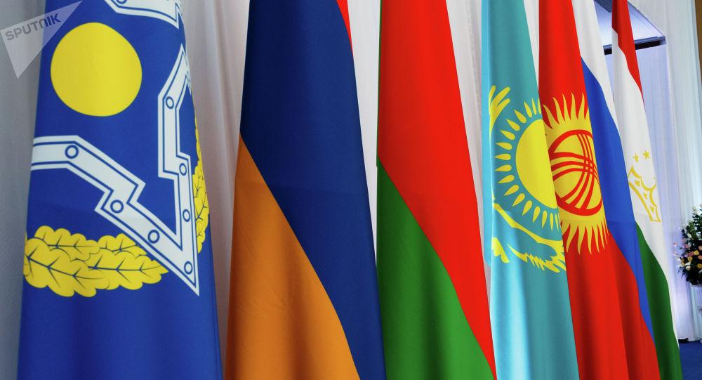 Флаги стран-участниц ОДКБ. Архивное фото