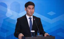 Министр иностранных дел Кыргызстана Чингиз Айдарбеков выступает на совещании министров иностранных дел ШОС в Бишкеке.