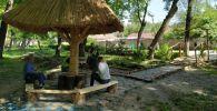 В Бишкеке в парке Молодежный, который находится в районе Западного автовокзала, появился гавайский уголок