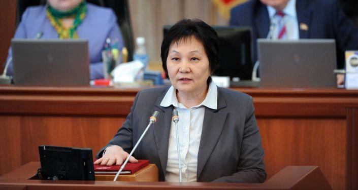 Экс-министр здравоохранения КР Динара Сагинбаева