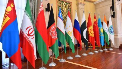 Флаги стран участников ШОС. Архивное фото