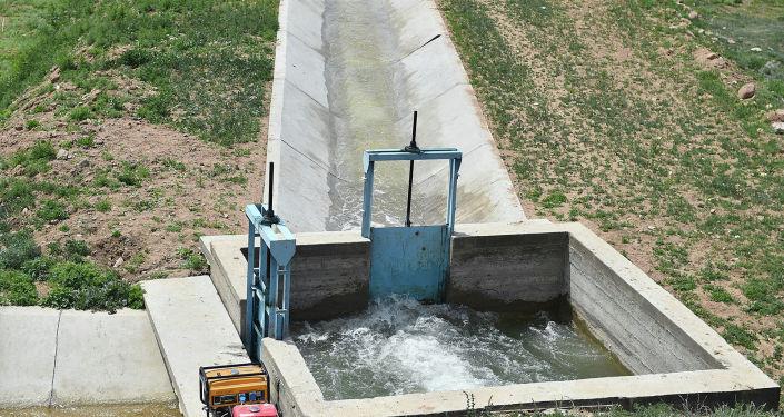 Бассейн суточного регулирования в Джумгальском районе Нарынской области