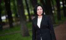 Глава муниципального предприятия Бишкекзеленхоз Эльнура Жолдошев