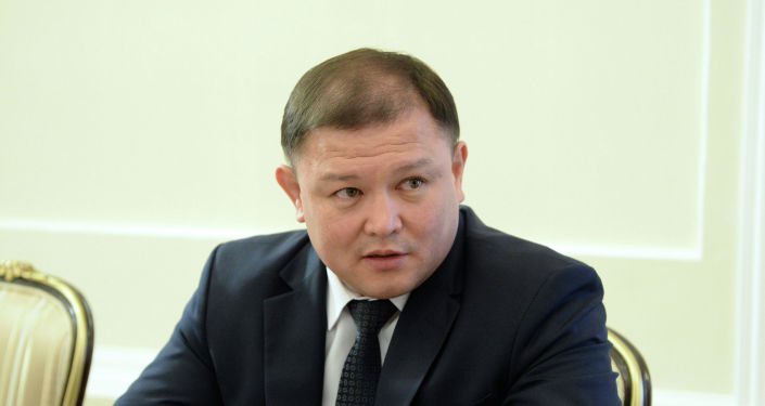 Торага Жогорку Кенеша Дастанбек Джумабеков во время встречи с президентом Кыргызстана.