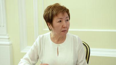 Кыргызстандын Жогорку сотунун төрайымы Гүлбара Калиева. Архив