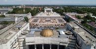 Вид на центральную площадь Ала-Тоо Бишкека с высоты. Архивное фото