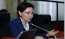 Жогорку Кеңештин экс-депутаты Эльвира Сурабалидева. Архив
