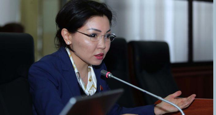 Жогорку Кеңештин депутаты Элвира Сурабалдиева. Архивдик сүрөт