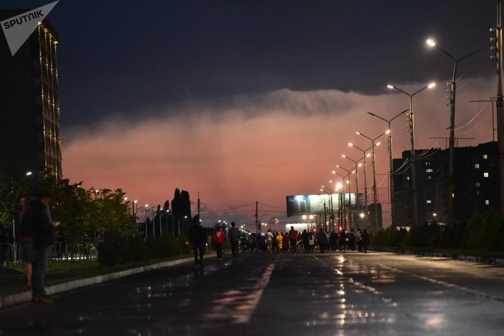 Мелдеш Масалиев (Түштүк магистраль) жана Чыңгыз Айтматов көчөлөрүнүн кесилишинде өттү