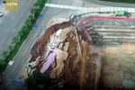 Инцидент произошел 8 июня в городе Наньнине провинции Гуанси. Момент обрушения попал на видео, его опубликовал телеканал CGTN на своем YouTube-канале.