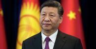 Председатель Китайской Народной Республики Си Цзиньпин  во время встречи в государственной резиденции Ала-Арча в Бишкеке