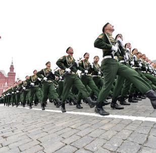 Военный парад в Москве. Архивное фото