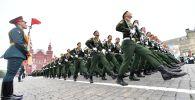 Москва шаарындагы аскердик парад. Архив