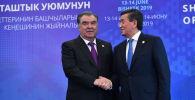 Президент КР Сооронбай Жээнбеков и президент Таджикистана Эмомали Рахмон. Архивное фото