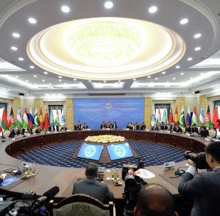 Заседание в расширенном составе саммита ШОС в Бишкеке. Архивное фото